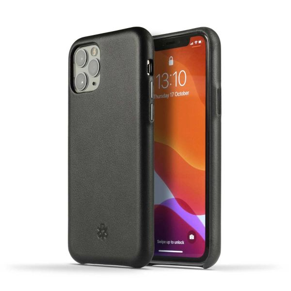 Novada Genuine Leather Back Cover Case for Apple iPhone 11 - Classic Collection - Black