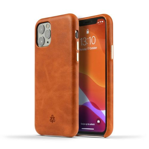 Novada Genuine Leather Back Cover Case for Apple iPhone 11 - Classic Collection - Tan