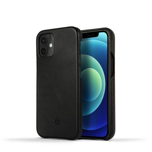 Novada Genuine Leather iPhone 12 Mini Back Case Cover - Black