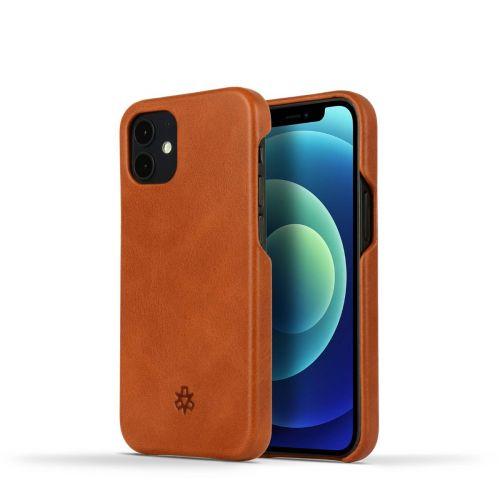Novada Genuine Leather iPhone 12 Mini Back Case Cover - Tan