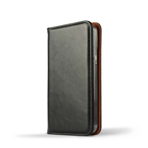 NOVADA Genuine Leather iPhone 12 Mini Case with Credit Card Wallet & Stand