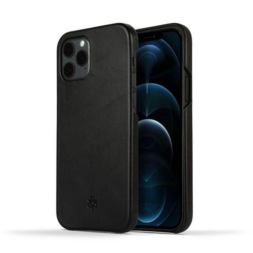 Novada Genuine Leather iPhone 12 Pro Back Case Cover - Black