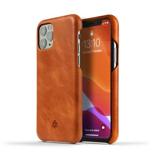 Novada Genuine Leather iPhone 12 Pro Back Case Cover - Tan
