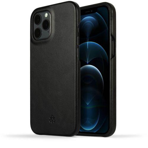 Novada Genuine Leather iPhone 12 Pro Max Back Case Cover - Black