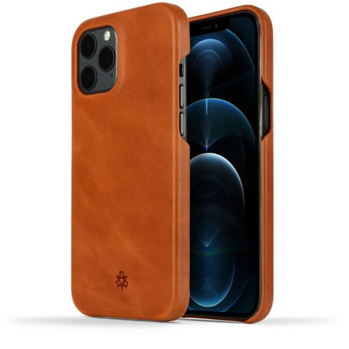 Novada Genuine Leather iPhone 12 Pro Max Back Case Cover - Tan