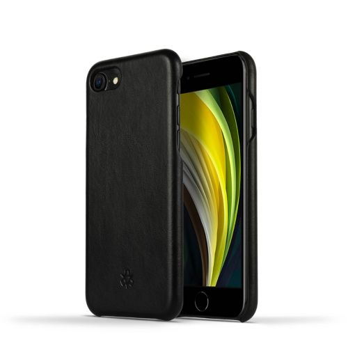 Novada Genuine Leather iPhone 7, 8 & SE Back Case Cover -  Black