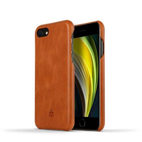 Novada Genuine Leather iPhone 7, 8 & SE Back Case Cover - Tan
