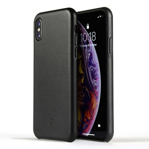 Novada Genuine Leather Back Cover Case for Apple iPhone XR - Classic Collection - Black