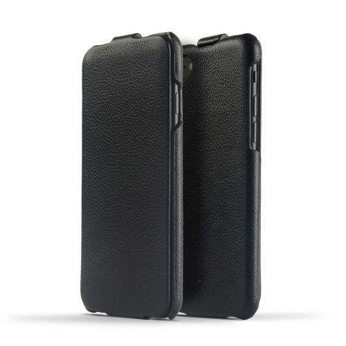 Novada Duke Genuine Leather Flip Case for iPhone 7, 8 & SE (2020) - Black