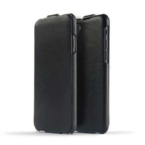 Novada Duke iPhone 7 & 8 Genuine Leather Flip Case - Black