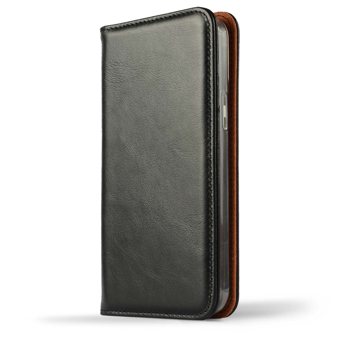 miniatuur 9 - Novada Genuine Leather iPhone 12 Case with Credit Card Wallet & Stand