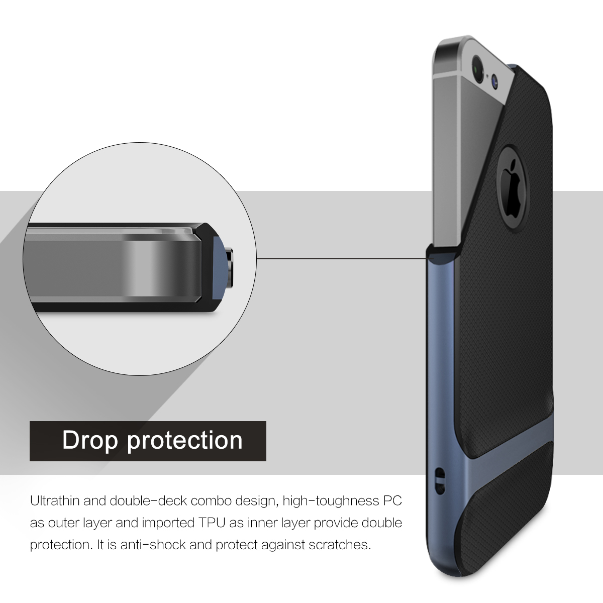 Genuine Rock Royce Ultra Slim Hybrid Shockproof Case Cover iPhone